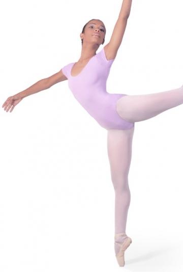 Justaucorps de ballet à manches très courtes