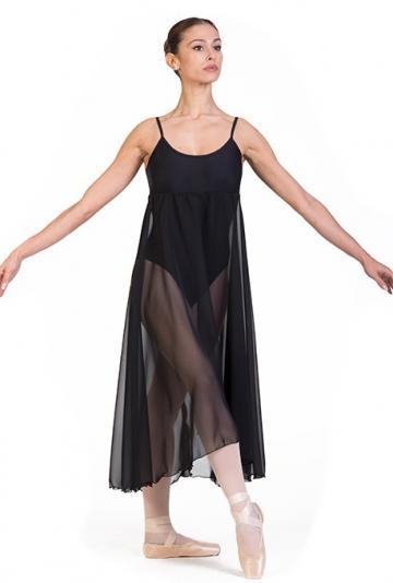 Danse des corps avec jupe en mousseline de soie B7024