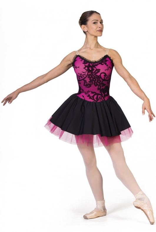 costume de danse avec corsage de dentelle studiodanza. Black Bedroom Furniture Sets. Home Design Ideas