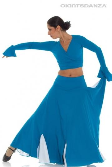 Jupe flamenco bicolore