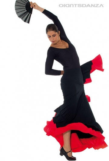 Jupe de flamenco double volants FL 2022