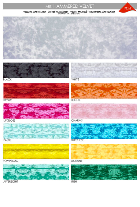Color chart hammered